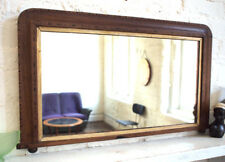 Antique Rectangle Victorian Wall Shop Fitting Mirror Large Vintage Retro
