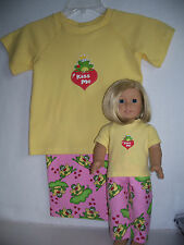 "Matching ""Kiss Me"" pajamas for her & her Bitty Baby doll (size 4)"