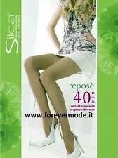 3 Collant donna Silca Reposè 40 den con guaina modellante 70 den art Reposè 40