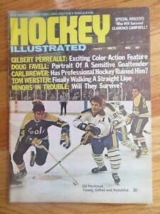 Hockey Illustrated 1972 GIL PERREAULT Magazine DOUG FAVELL CARL BREWER WEBSTER