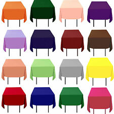"""10 Tablecloths 54""""x54"""" Square 100% Polyester 23 Colors Made in Usa Table Overlay"""