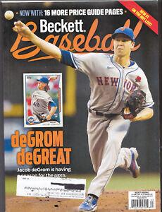Beckett Baseball Card Monthly Price Guide September 2021 ~ Jacob DeGrom
