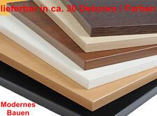 Tischplatte Holzplatte beschichtet ca 30 Dekore/Farben 25 mm dick 2 mm ABS-Kante