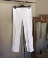 Cache Women's White Textured Waist Bootcut Jeans, Size 4