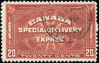 1930 Used Canada 20c F+ Scott #E4 Special Delivery Stamp