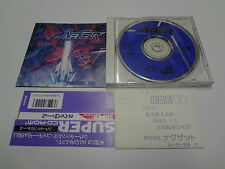 Nexzr w/spine + Reg Card NEC PC Engine CD-Rom 2 Japan/C