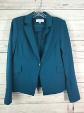 Calvin Klein Cypress Blue Womens Sz 8 Crepe One-Button Blazer NWT $129