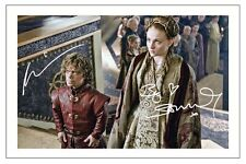 PETER DINKLAGE & SOPHIE TURNER GAME OF THRONES SIGNED PHOTO PRINT AUTOGRAPH