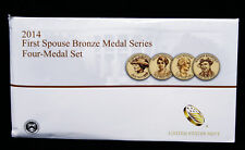 2014 First Spouse Bronze Medal Set -- Four Medals in Original Mint Packaging