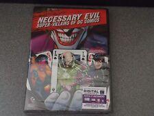 Necessary Evil: Super Villains of DC Comics DVD From Arkham Origins C.E.   NEW
