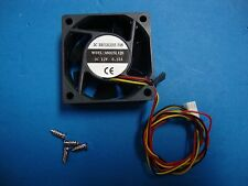 60mm 25mm New Case Fan 12V DC 18CFM PC CPU Cooling 3Wire Ball Brg 4 Screws