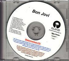 BON JOVI Lost Highway UK 12-tk watermarked promo test CD
