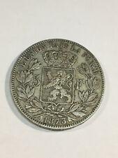 MONNAIE Belgique 5 Francs 1873 ARGENT