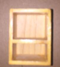 Dollhouse Miniature End Table Shelf Cube Wood Vintage 1:12