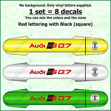 8 X Audi SQ7 Door Handle Wheel Brake Caliper Decal Sticker Emblem Logo Vinyl  I