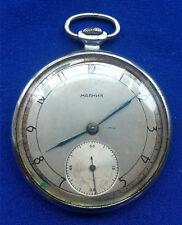 CCCP Soviet USSR Russian vintage pocket watch MOLNIJA 450221 rare 15 jewels