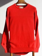 "Alan Paine 46"" Gent's 100% Cotton Bright Red Crewneck Sweater / Jumper - England"