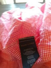 Ralph Lauren Pink Gingham Fitted Sheet Twin