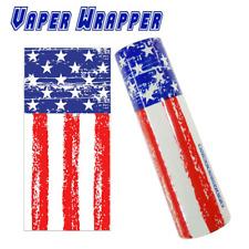 2x USA America 18650 Battery Wraps Shrink Sleeve   Vape Wrapper   UK STOCK   NEW