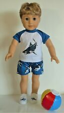 T Shirt Swimwear Pants Beach Ball For 18 in American Girl Logan Boy Doll