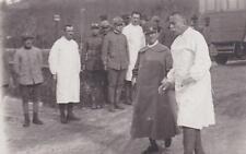 A9151) WW1, VALISELLA (GORIZIA) 26/10/1916, IL RE VISITA L'OSPEDALE MILITARE.
