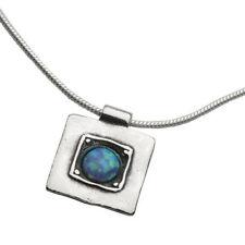 Halsketten und Anhänger aus Sterlingsilber mit Opal