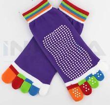 Yoga Fitness Halt Sport Fünf Zehen Socken Gummi Pilates rutschfest Socken lila