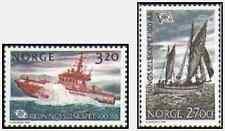 Timbres Bateaux Norvège 1023/4 ** lot 15019