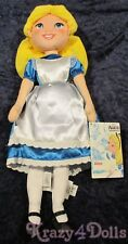 """Disney Alice in Wonderland Plush Doll 18"""" New with Tags!"""