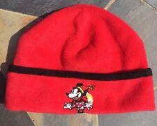 Disney Fleece Money Mouse Disneyland Resort Fleece Hat Beanie Youth/ Adult Red