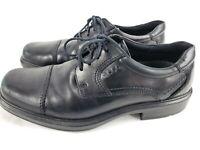 Ecco 41 Men's US Size 7-7.5 Black Leather Lace Up Cap Toe Oxford Dress Shoes