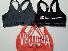 Lot of 3 Sport Bra's Medium Under Armour Champion Victoria Secret Racerback