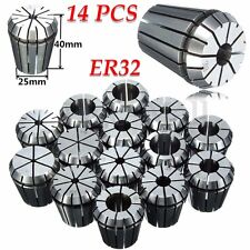 "14PCS ER32 1/16""-3/4"" SPRING COLLET PRECISION CNC MILL WORKHOLDING TOOL BY 16TH"