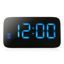 LED Digital Alarm Clock Voice Control Time Display for Home Office Hot