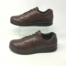 SAS Free Time Walking Sneakers 9M Mens Casual Shoe Low Top Lace Up Leather Brown