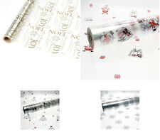 20m Roll Christmas Cellophane Hamper Gift  Wrap Film Santa Snowflake Choose