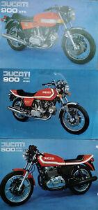 Ducati 500 & 900 Desmo Sport & GTS Motorcycle Brochures 1970's Original x3 items