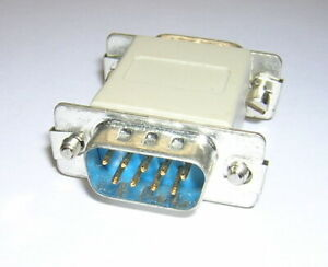 9-Pin DB9 Male/Male Gender Changer Adapter DB9M-M RS-232 Serial