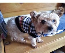 Check Christmas Dog Knitted Jumper ( Medium Size ) Dog Clothes Dog Sweater