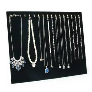 2Pcs Black Velvet Necklace Chain Stand Jewellery Holder Shop Display Bust New