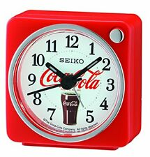 Seiko Quartz Coca Cola White Red Square Bedside Alarm Clock