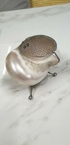 antique natural mother of pearl shell small bud vase