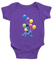 Infant Baby Boy Girl Rib Bodysuit Clothes Gift Eeyore Gloomy Donkey Balloons