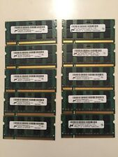Lot of 218 Micron DDR2 2GB 2Rx8 PC2-5300S Laptop Memory All Micron
