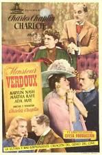 MONSIEUR VERDOUX Movie POSTER 11x17 Spanish Charlie Chaplin Martha Raye Isobel
