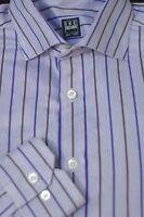 Ike Behar Men's Lavender Blue & Green Stripe Cotton Casual Shirt M Medium