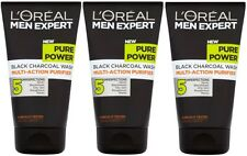3 x 150ml LOreal Men Expert Pure Power Black Charcoal Face Wash