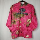 MOSSY OAK Pink Camo Hunting Country Girl Hooded Pocket Sweatshirt M (8-10)