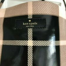 NWOT! KATE SPADE PASTRY PINK TAN BLACK PLAID BON SHOPPER TOTE BAG # H154