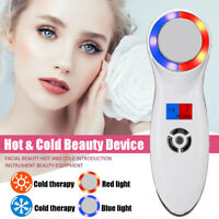Ultrasonic Hot Cold Hammer LED Light Photon Face Firming Tighten Lifting Device